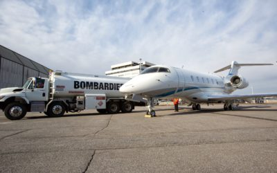 ZenithJet works on delivery for Latitude 33 Aviation announcing the acceptance of the first Bombardier customer aircraft to be delivered with SAF.